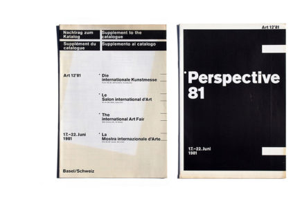 art 12'81 Perspective 81 + Supplement to the catalogue