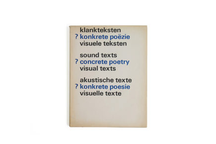 sound texts ? concrete poetry visual text