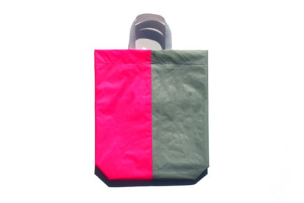 KM bag I/S Light Gray / Fluo Pink