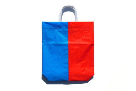 KM bag I/S Sky Blue / Warm Red-Orange