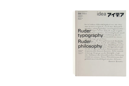 idea 333 : Ruder typography Ruder philosophy