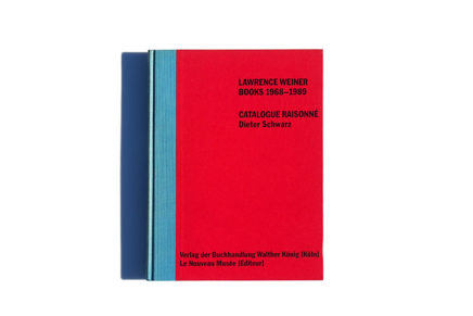 Lawrence Weiner Books 1968-1989