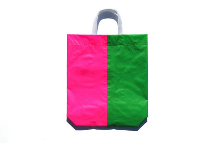 KM bag I/S Fluo Green / Fluo Pink
