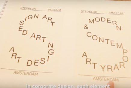 De nieuwe huisstijl van het Stedelijk Museum door Mevis & Van Deursen